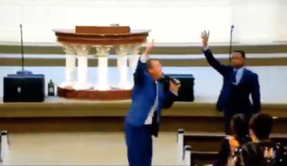 """Watch: Confused pastor gives homophobic sermon with one very odd line: """"Heroes have calloused knees"""" 