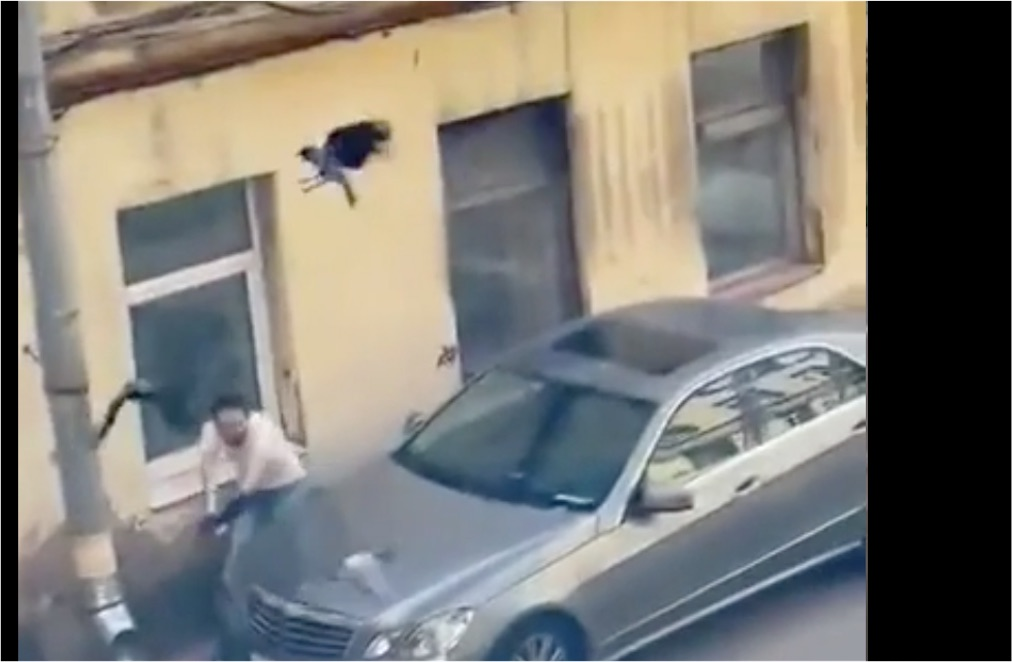 Man attempts to relocate crow from roof of his car, resulting in The Birds