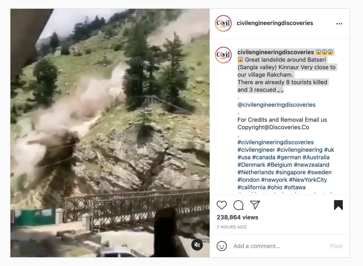 Caught on video: nightmarish rockslide takes out bridge | Boing Boing
