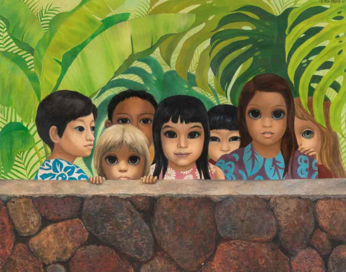 """Keane """"big eyes"""" painting returned 50 years after it was stolen from the waiting room of a dentist whose daughter is depicted in the artwork 