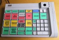 Picture of a Wincor Nixdorf TA85P cash register keyboard