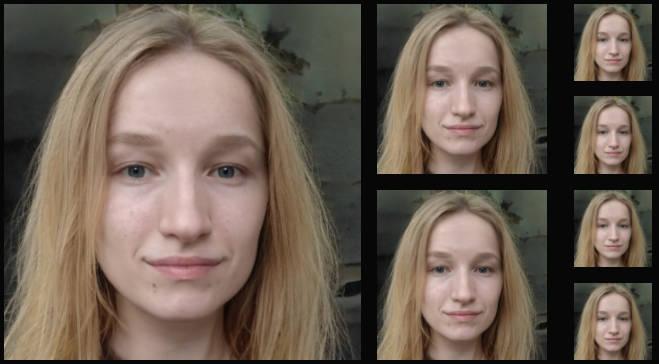 GAN-generated images of Olesya Chernyavskaya