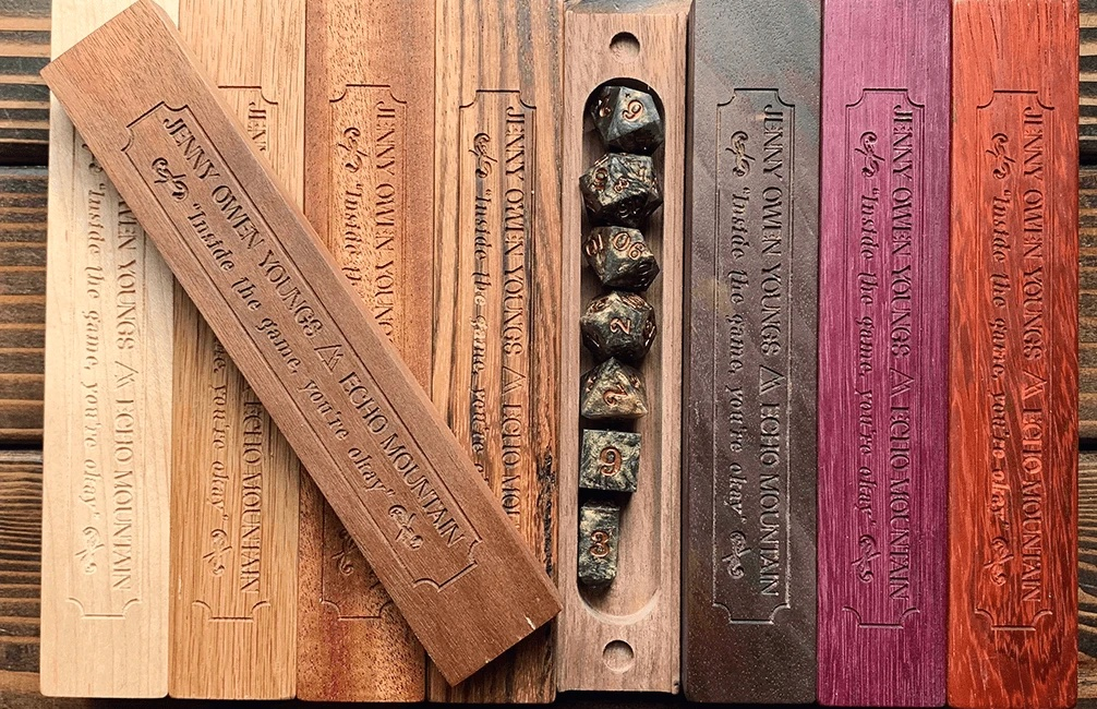 A musician is selling a gorgeous handmade dice set as part of her new vinyl album   Boing Boing