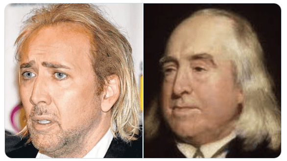 Here's a bunch of a pictures of Nicolas Cage as various historical philosophers   Boing Boing