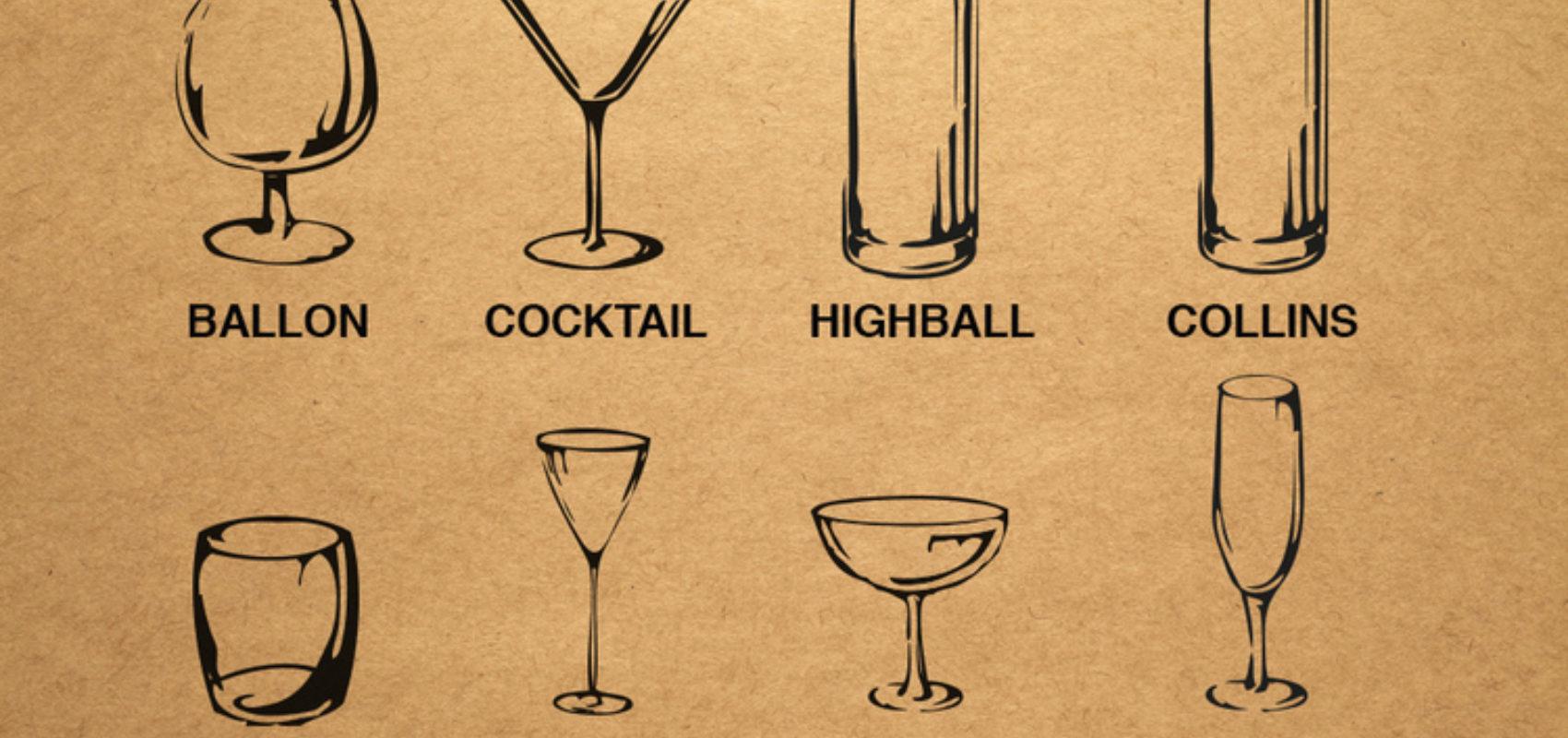 les differents types de verres