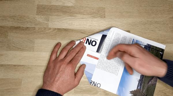 étape 2 de l'avion en papier