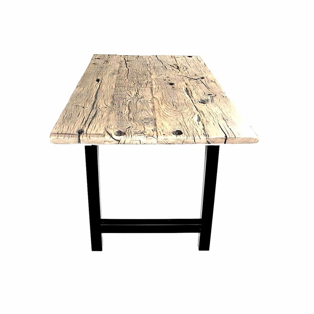 rustic table from old oak