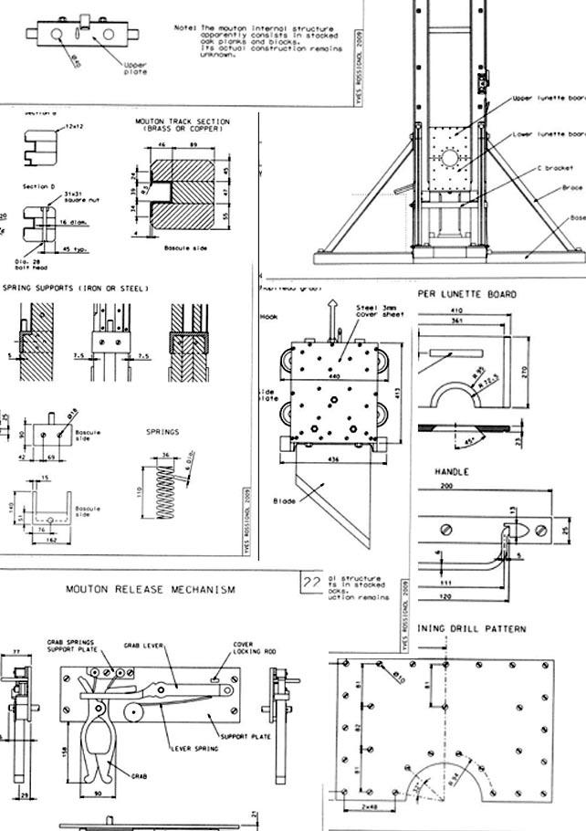1872 Guillotine Drawings