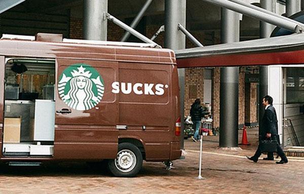 Starbucks Sucks Van