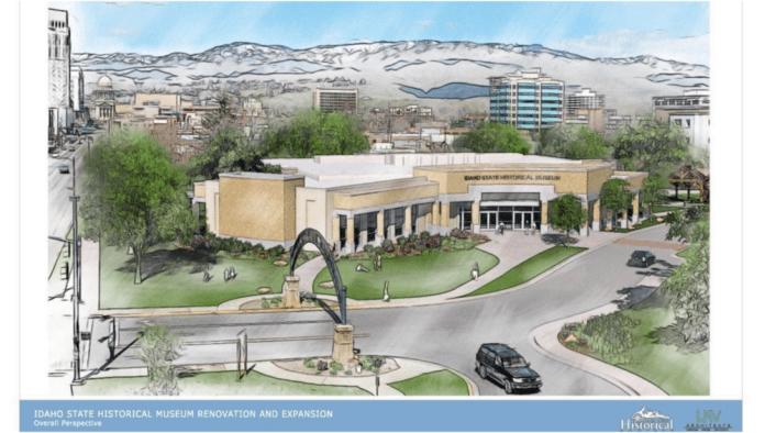 Rendering of updated Idaho State Museum