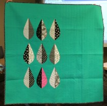 Made with one of the monthly Modern Quilt Guild patterns.