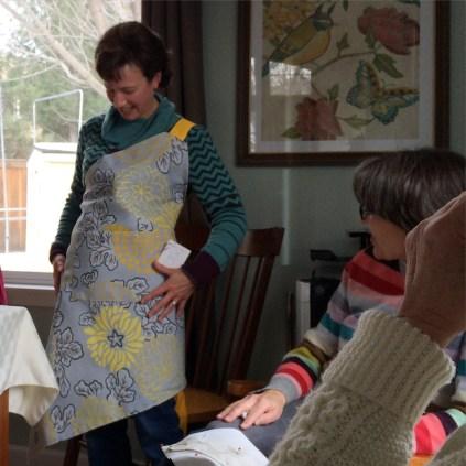Lori's new apron