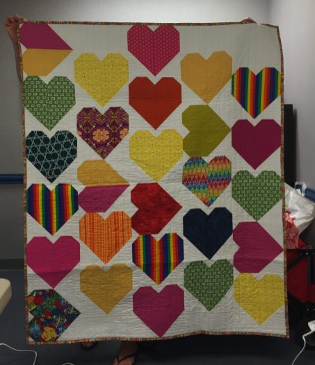 Our charity quilt for Quilt for Pulse