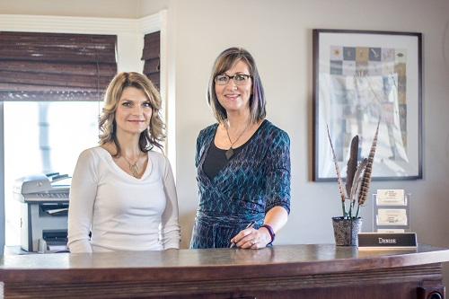 Administrative Staff Kara and Denise ready to take your phone calls or greet you at the front desk.