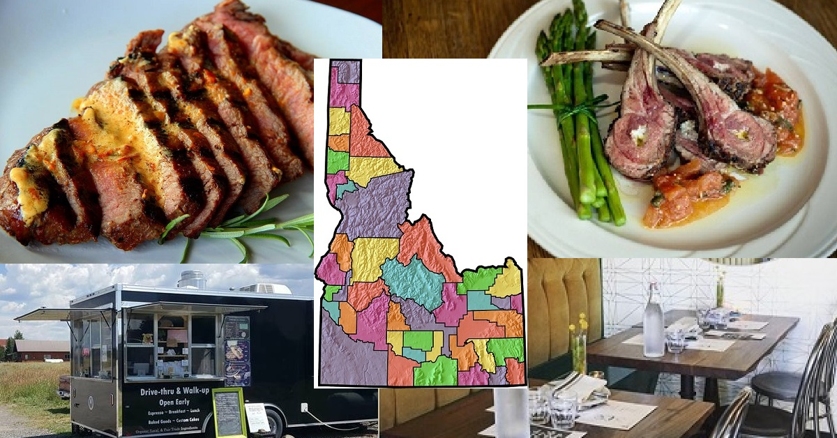 Best Restaurant in Each Idaho County 2018 Boise Ada Pacific Northwest