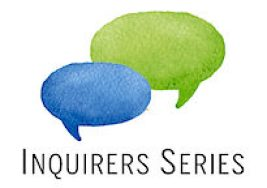Inquirers Series Logo with two speech bubbles