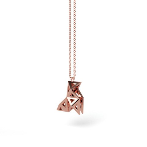 Pendentif Cocotte Or Rouge