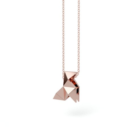 Pendentif Cocotte Massif Or Rouge