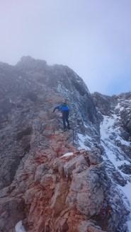 Na grebenu proti vrhu Trigalva
