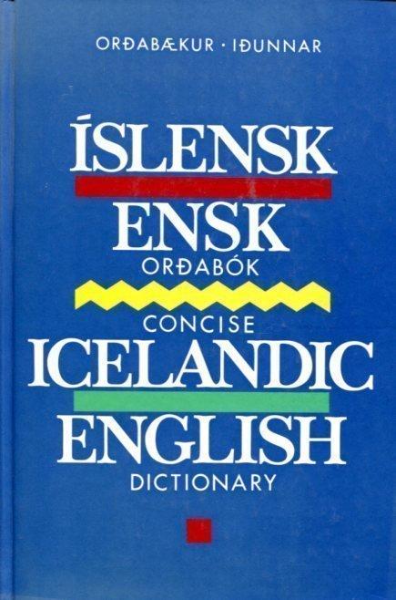 Íslensk Ensk orðabók framhlið