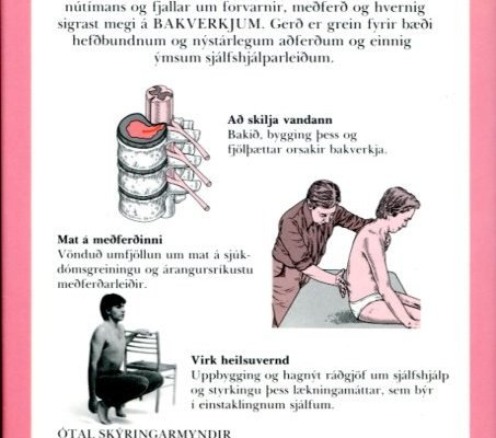 Bókin um bakverki - hagnýt leiðsögn um forvarnir og meðferð - baksíða