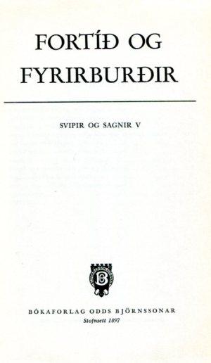 Fortíð og fyrirburðir - Þættir úr Húnavatnsþingi