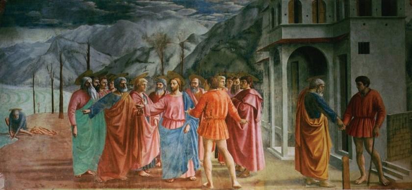 Le tribut à César, peinture de Masaccio