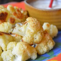 Baked Cauliflower with Tahini-Yogurt Sauce