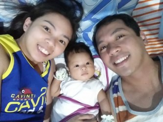 Selfie with wifey and baby!!!