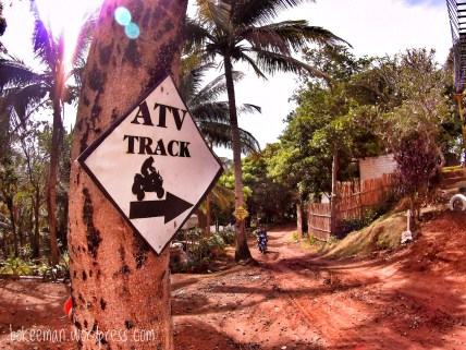 To the ATV track!