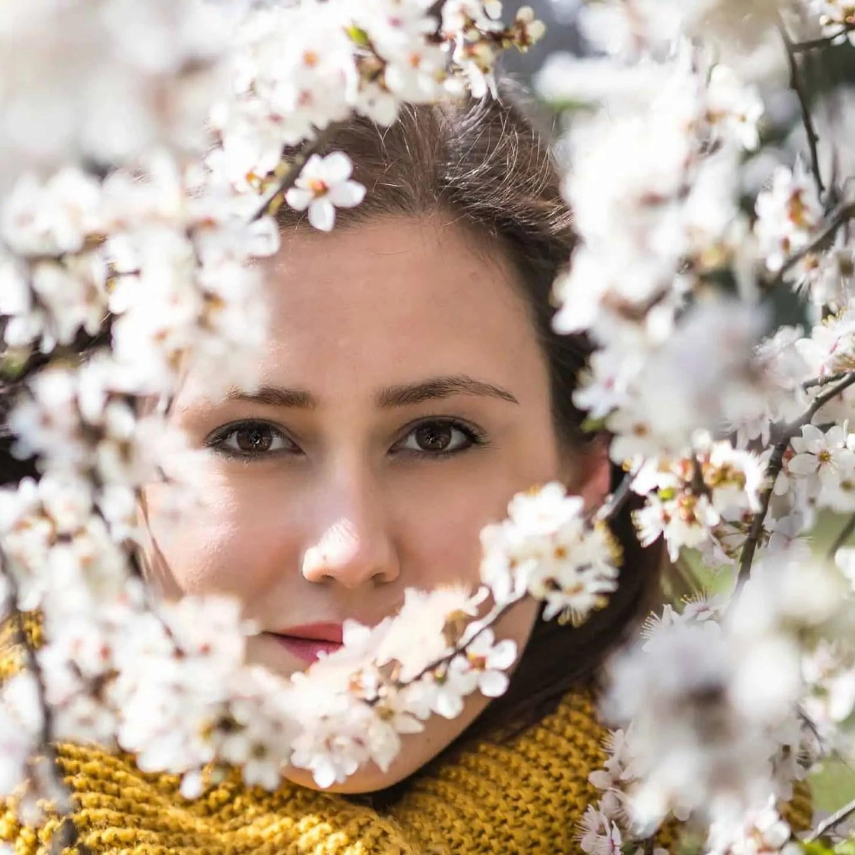 Wiosenny portret moda i kwiaty la Ell 23 - Zasady kompozycji - przewodnik po 20 regułach