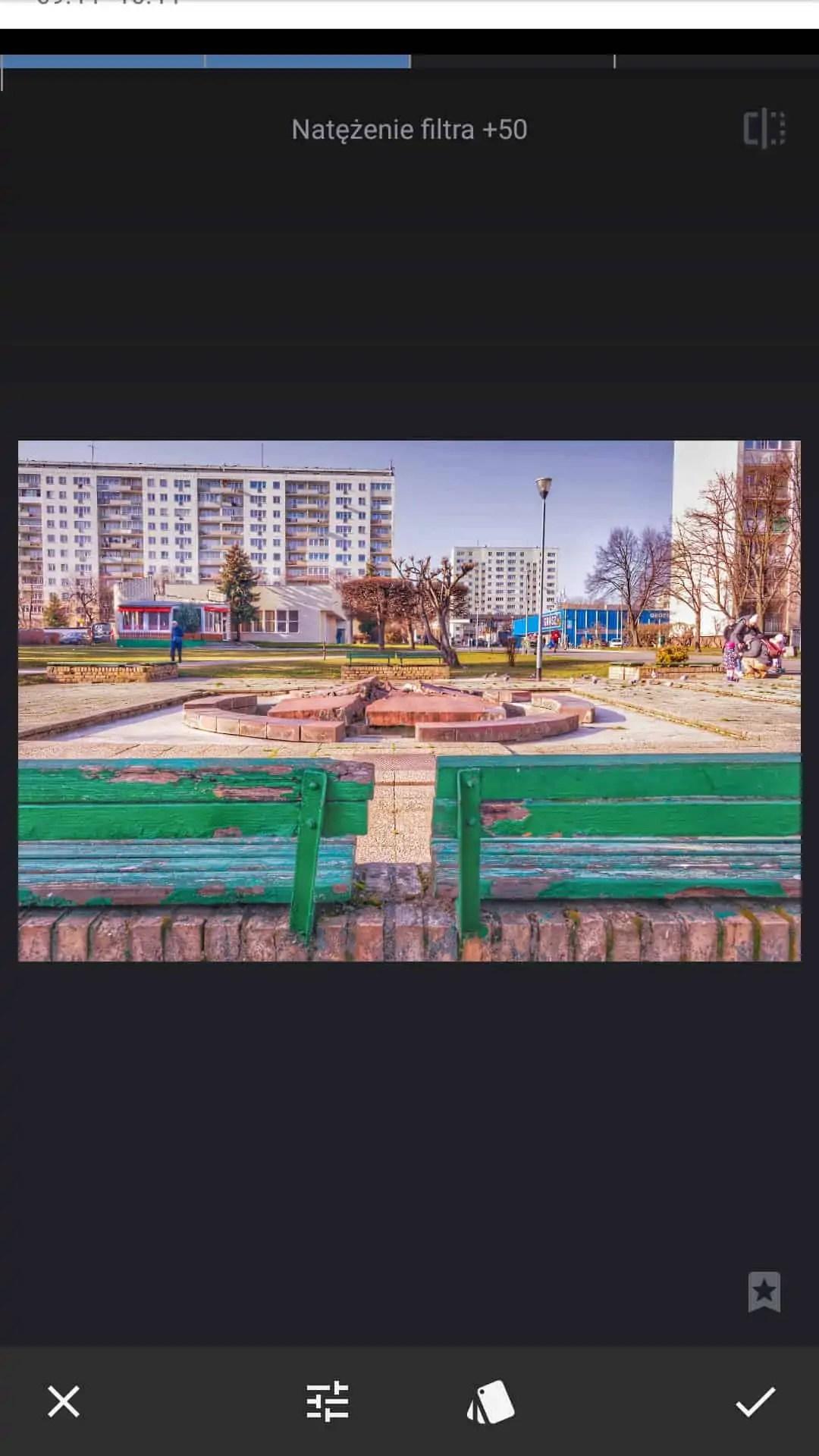 snapseed apka do zdjęć filtr HDR wartość 50 - Snapseed apka do zdjęć dla każdego
