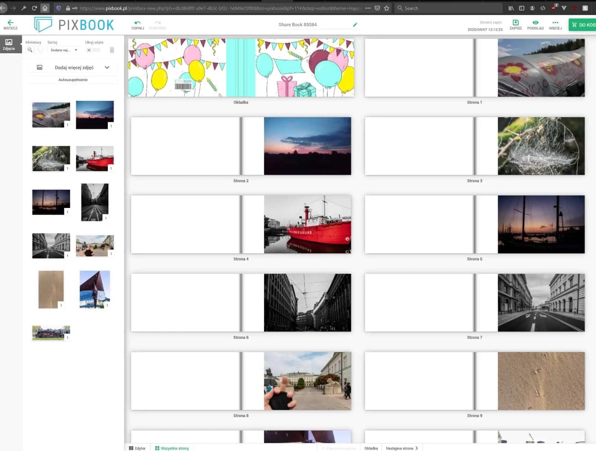 pixbook edytor tworzenia książeczki ze zdjęciami - Saal design, pixbook - książki fotograficzne