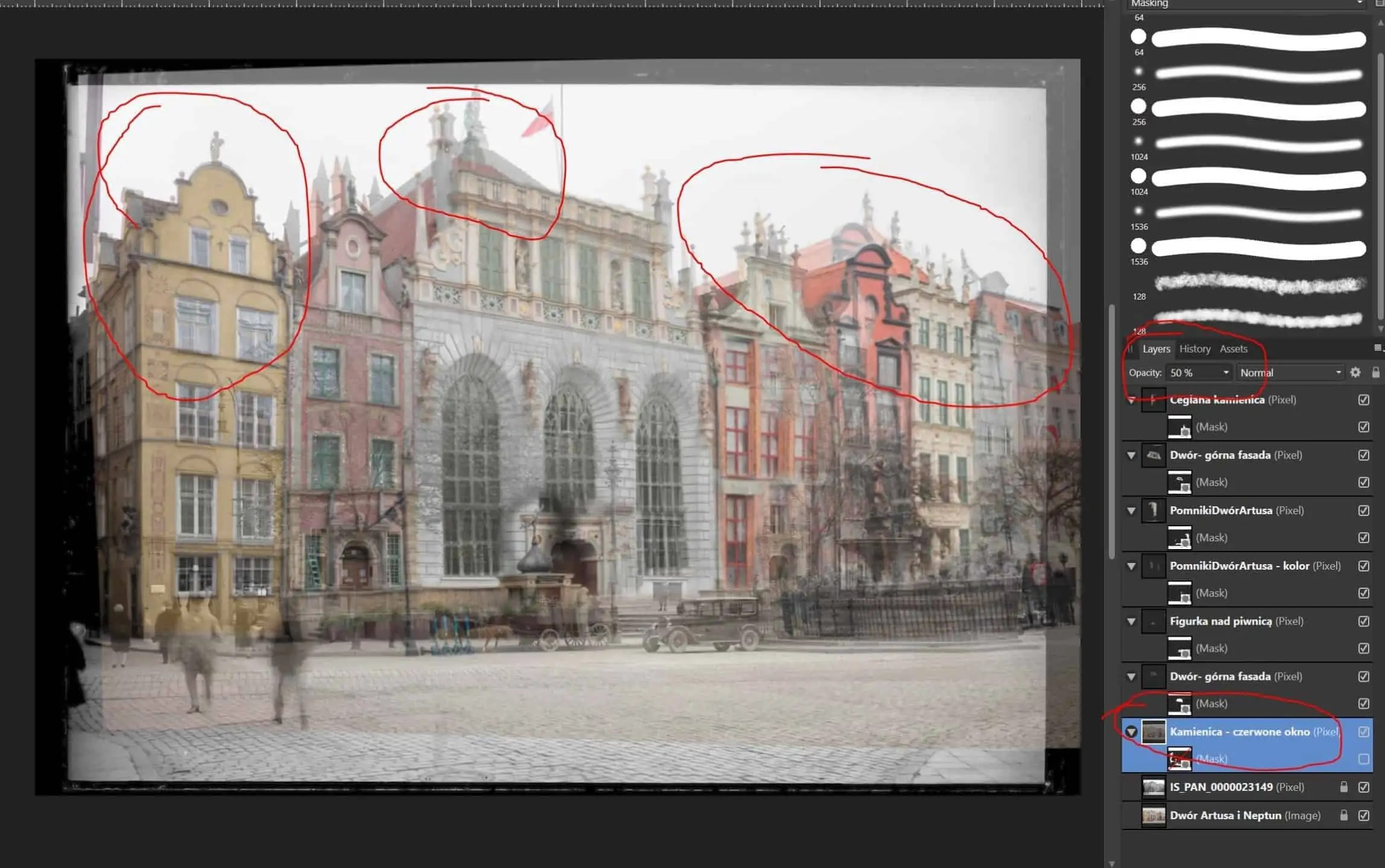 Trudnosc w dopasowaniu elementow ustawianie przezroczystego kadru - Zdjęcia starego Gdańska. Kompozycja w 5 prostych krokach !