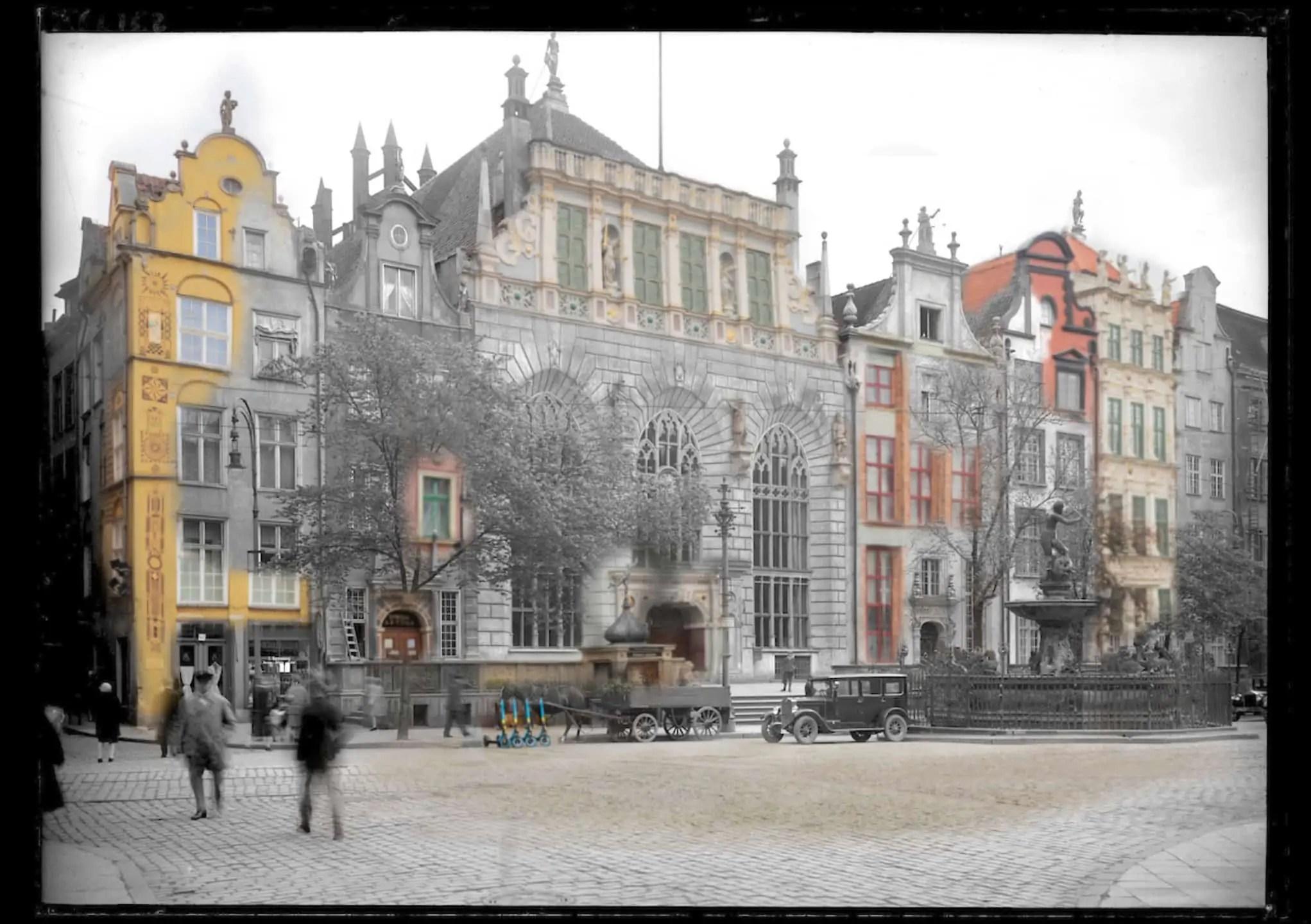 Zdjecia starego Gdanska Dwor Artusa i Neptun IS PAN 0000023149 - Zdjęcia starego Gdańska. Kompozycja w 5 prostych krokach !