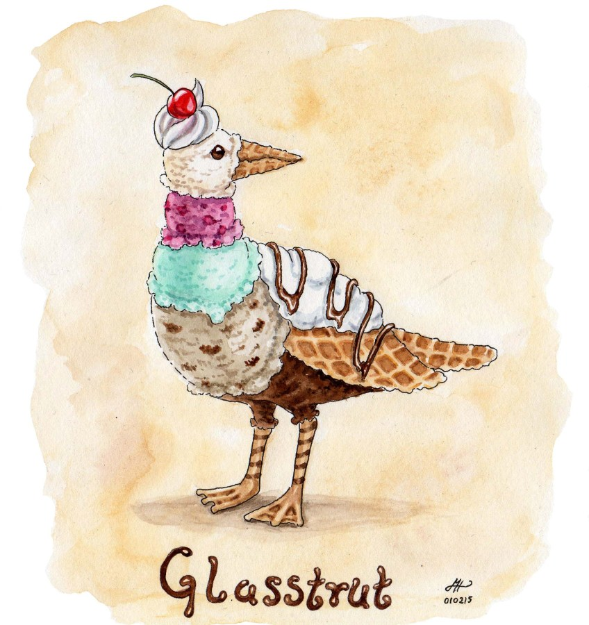 glasstrut illustration ordvits