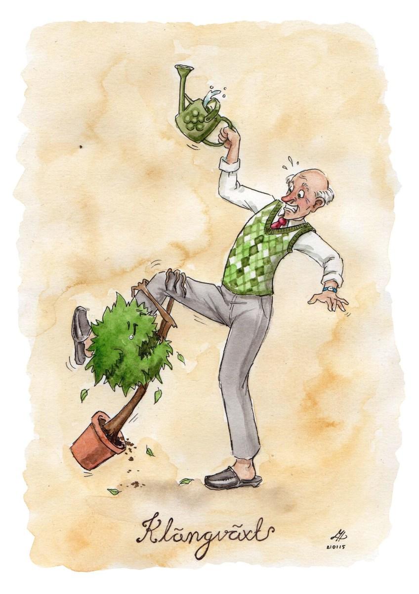 klängväxt illustration ordvits