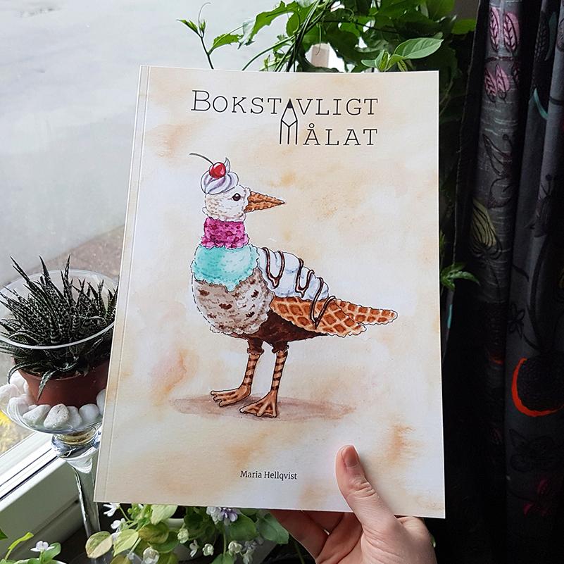 Bosktavligt målat bok