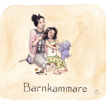 barnkammare illustration ordvits