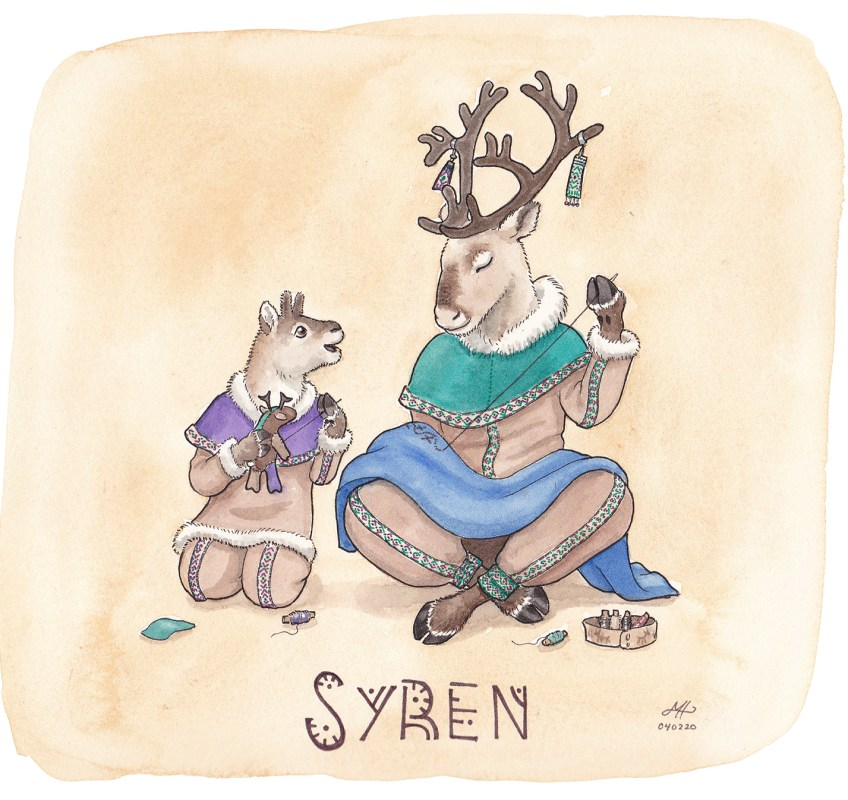 syren illustration ordvits