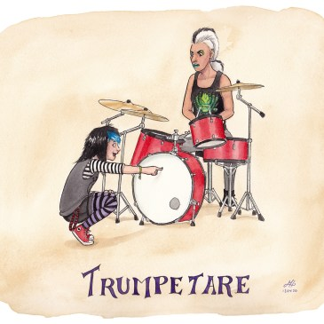 trumpetare illustration ordvits