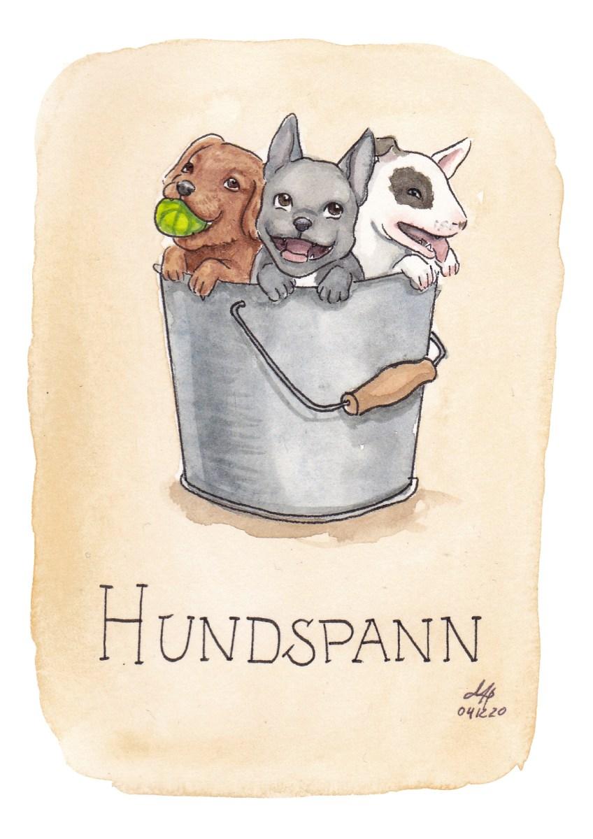 hundspann illustration ordvits
