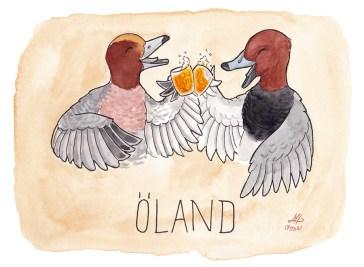 Öland illustration ordvits