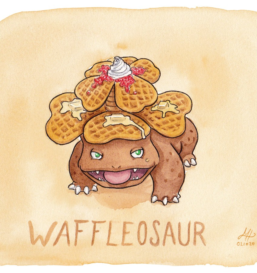 waffleosaur illustration ordvits