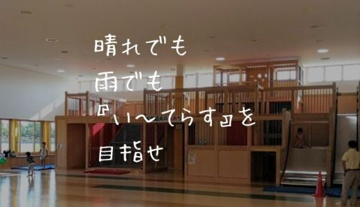 【新潟市東区】晴れでも雨でも構わねぇ!小学3年生までなら『い~てらす』で遊べ!