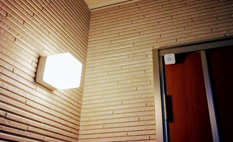 Hueモーションセンサーで玄関照明を人感にする