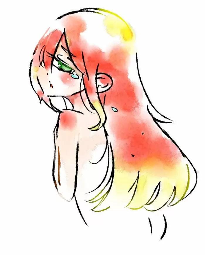 赤い髪の単眼女性