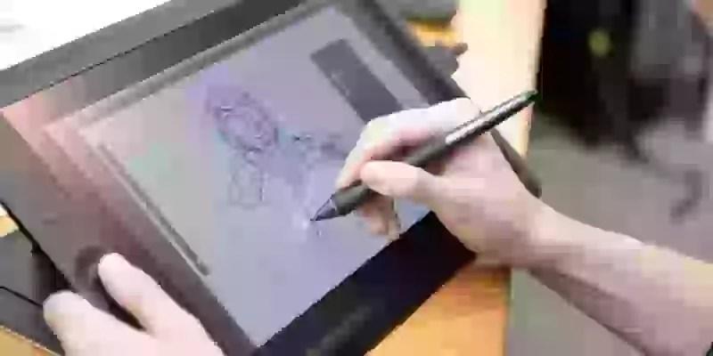 タブレットに絵に描いている図