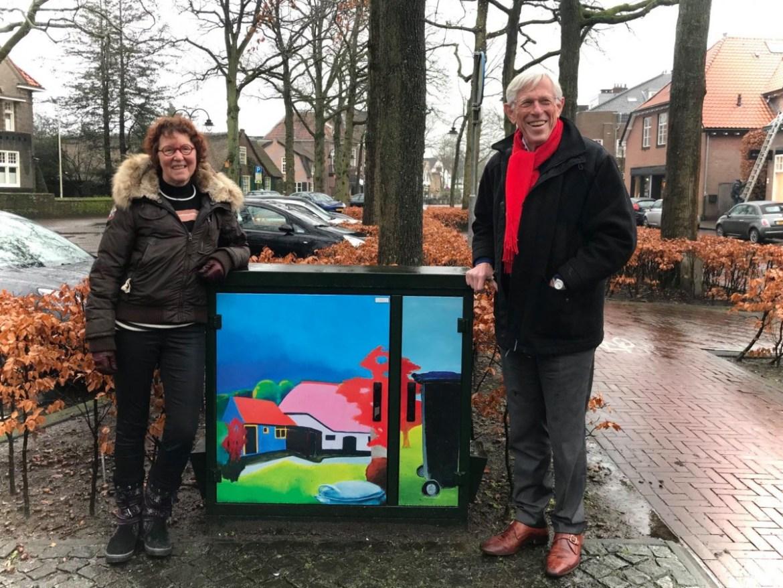 4e elektriciteitshuisje met kunst in Laren. (Brink)