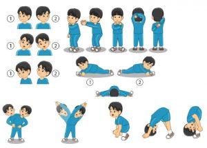 Latihan peregangan statis untuk meningkatkan kelenturan